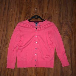 Gap women's cardigan 3/4 sleeve in pink